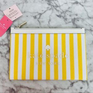 Kate Spade Large Strip Zip Pouch Wallet